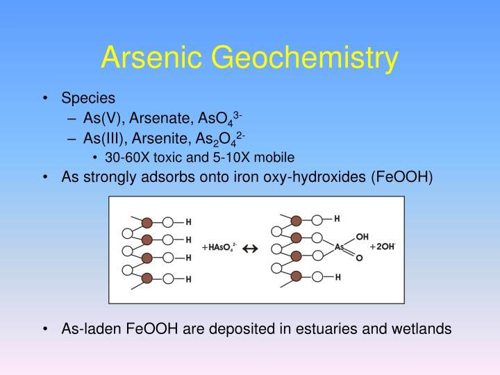 Arsenic Geochemistry