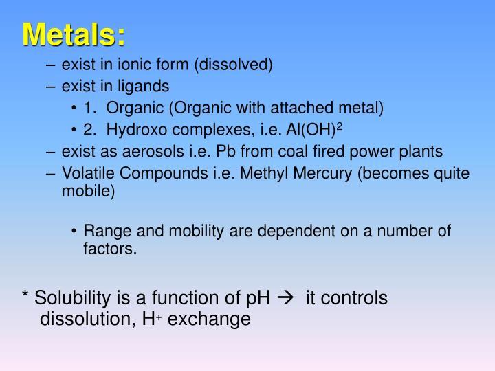 Metals: