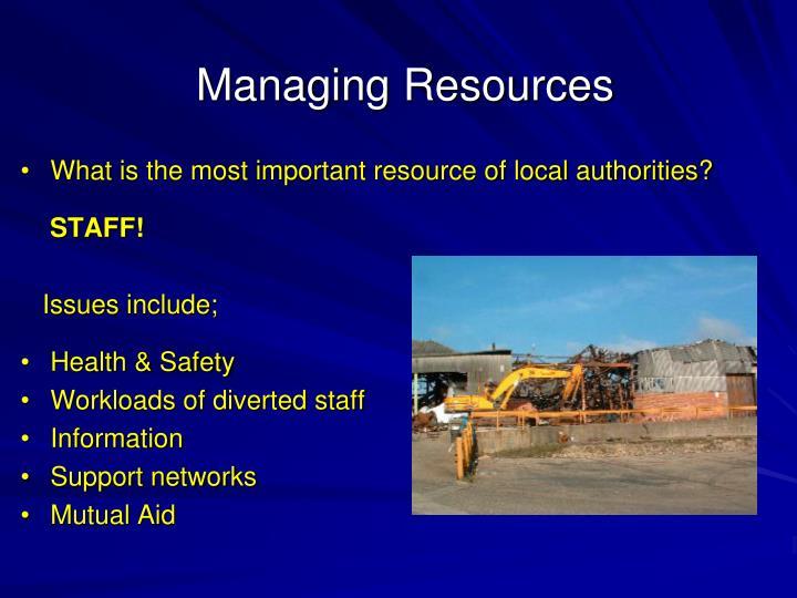 Managing Resources