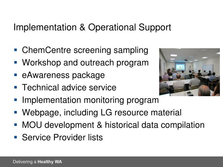 Implementation & Operational Support