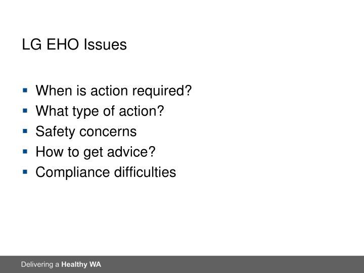 LG EHO Issues