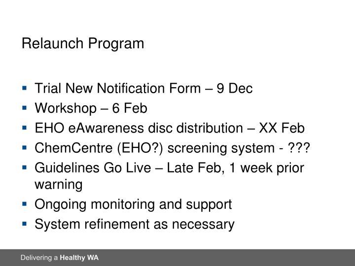 Relaunch Program