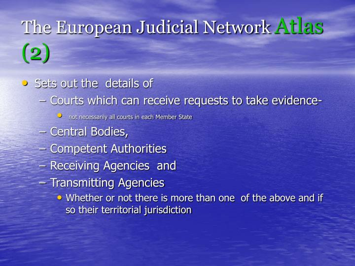 The European Judicial Network