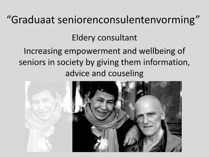 """""""Graduaat seniorenconsulentenvorming"""""""