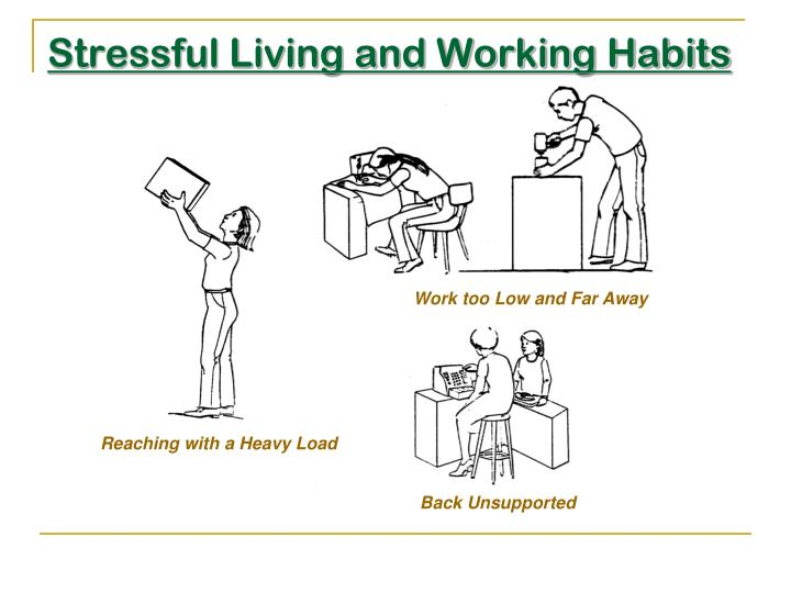 Stressful Living and Working Habits