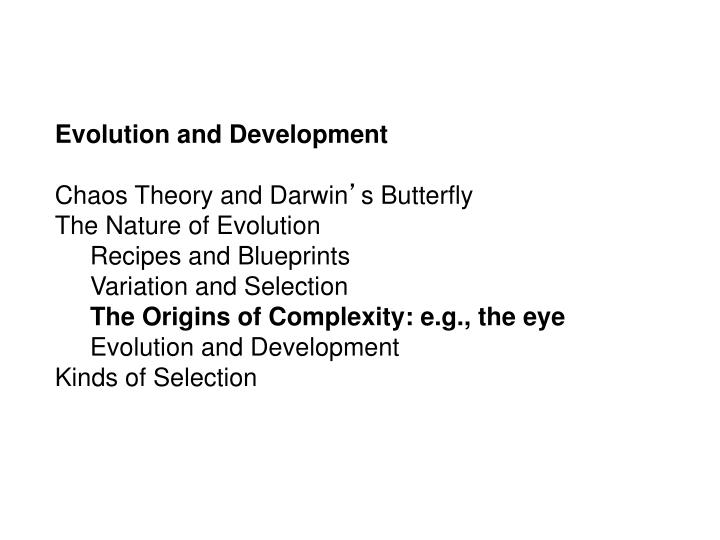 Evolution and Development