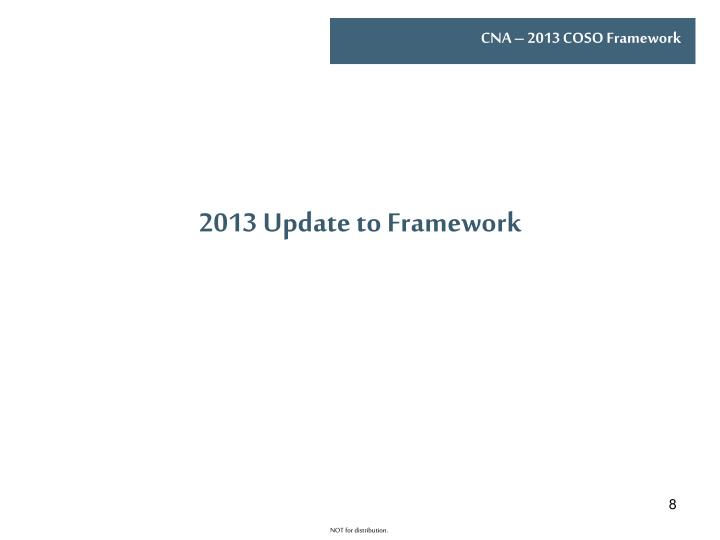 2013 Update to Framework