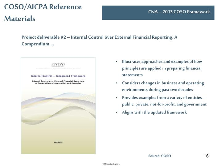 COSO/AICPA Reference Materials