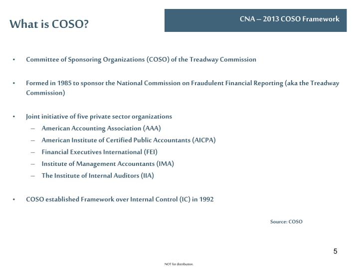 What is COSO?