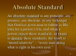 absolute standard