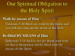 our spiritual obligation to the holy spirit1