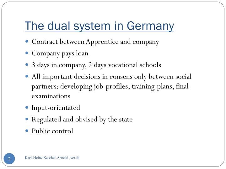 The dual system in germany