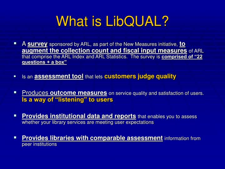 What is LibQUAL?
