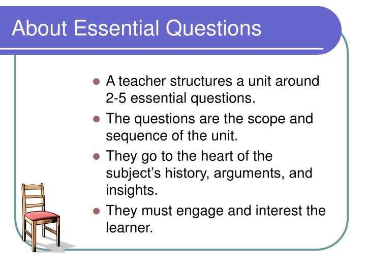 About Essential Questions