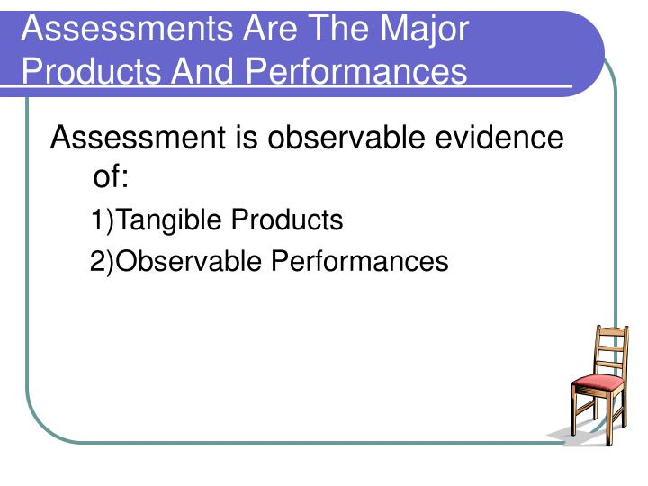 Assessments Are The Major Products And Performances