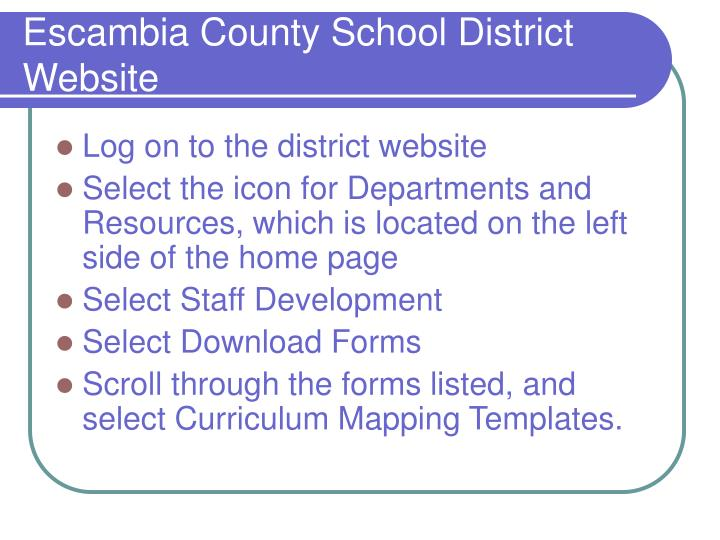 Escambia County School District Website