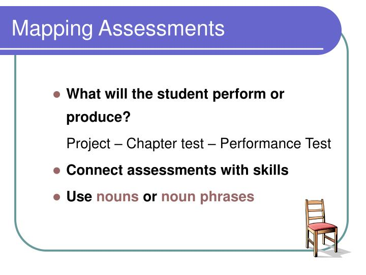 Mapping Assessments