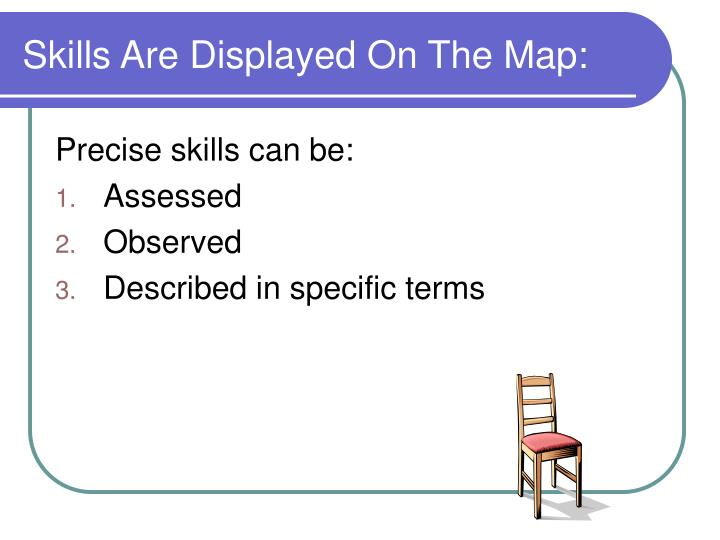 Skills Are Displayed On The Map: