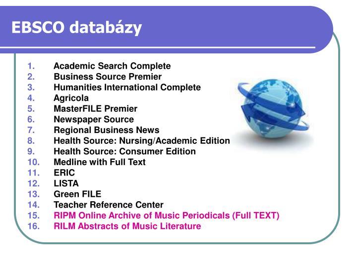 EBSCO databázy
