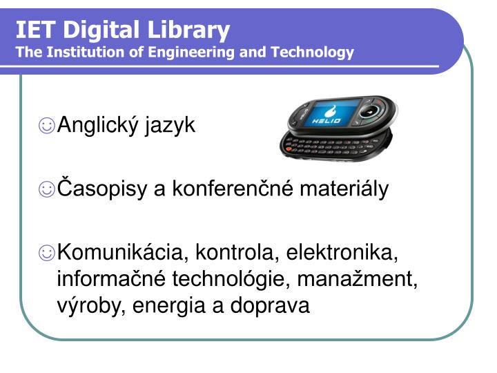 IET Digital Library