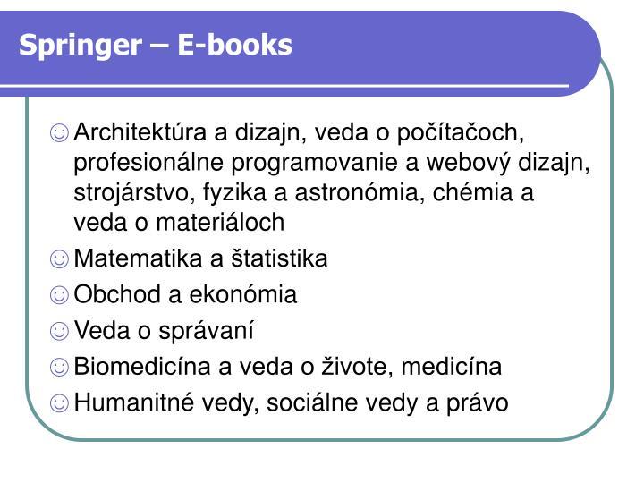 Springer – E-books