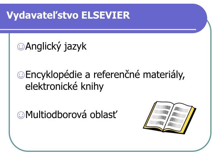 Vydavateľstvo ELSEVIER