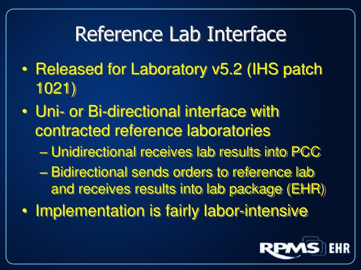 Reference Lab Interface