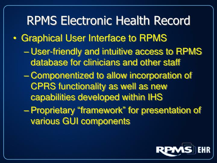 RPMS Electronic Health Record