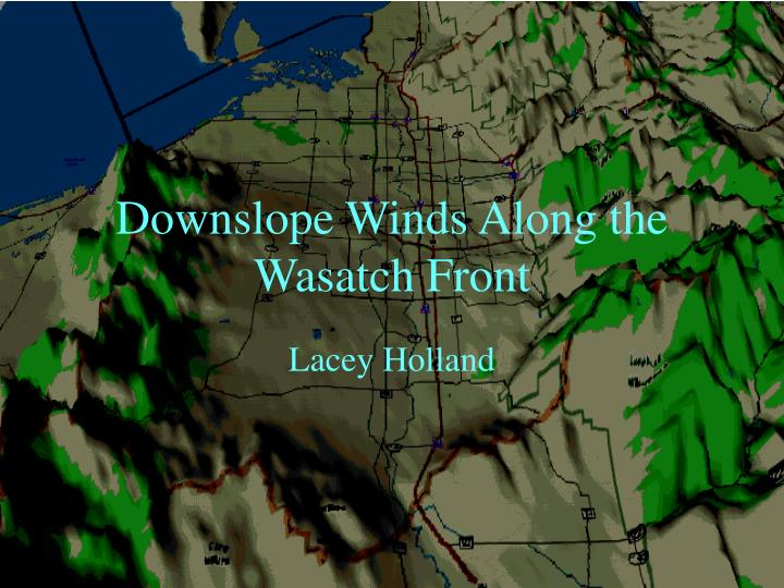 downslope winds along the wasatch front