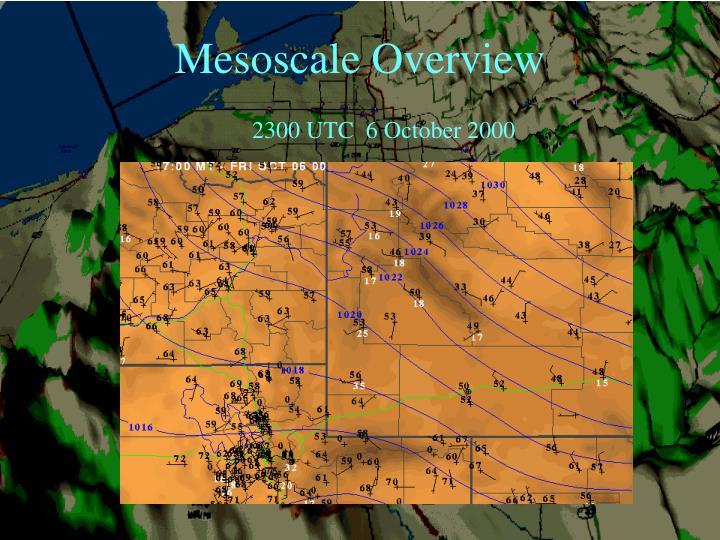 Mesoscale Overview