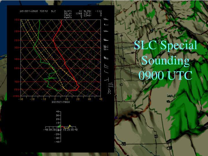 SLC Special Sounding 0900 UTC