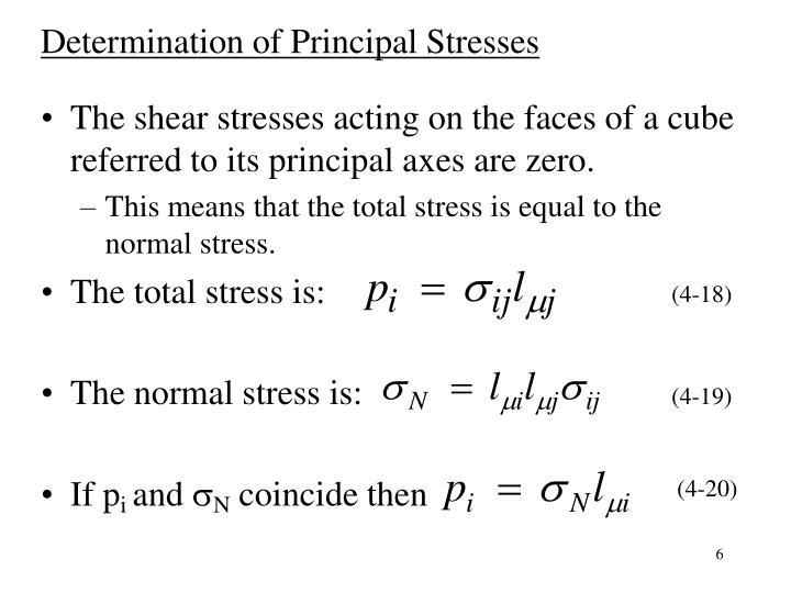 Determination of Principal Stresses