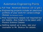 automotive engineering points