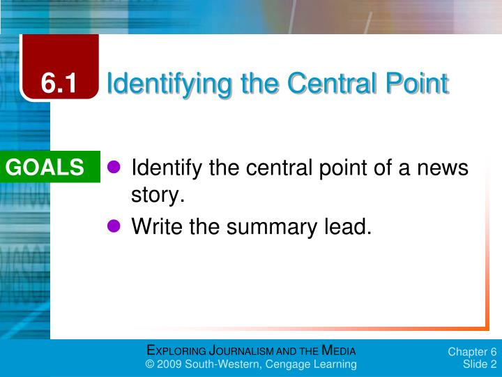 Identifying the central point