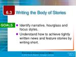 writing the body of stories