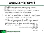 what doe says about wind