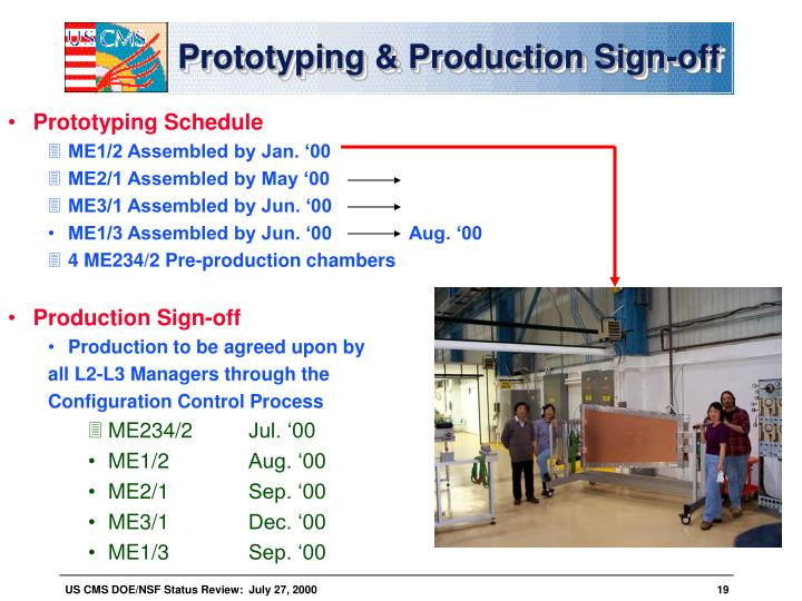 Prototyping & Production Sign-off