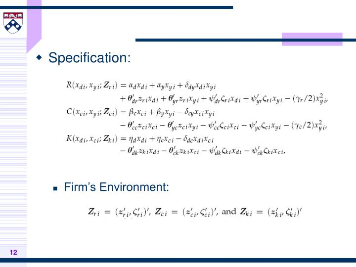Specification: