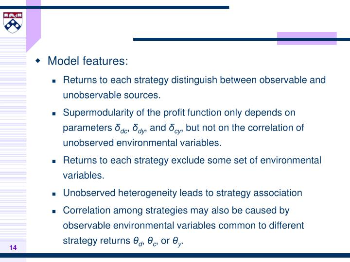 Model features: