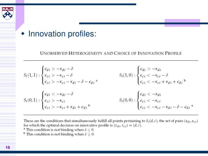 Innovation profiles: