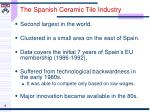 the spanish ceramic tile industry