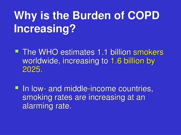 Why is the Burden of COPD Increasing?
