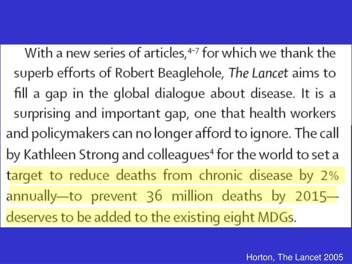 Horton, The Lancet 2005