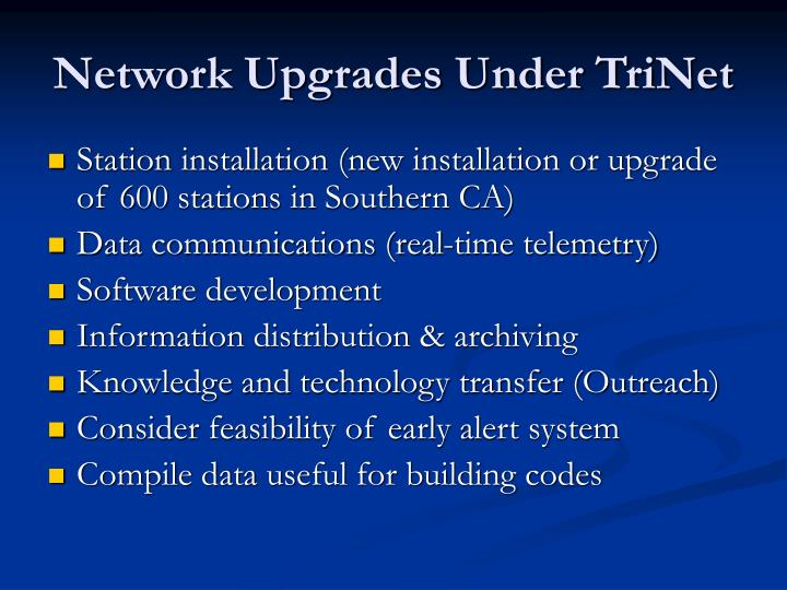 Network Upgrades Under TriNet