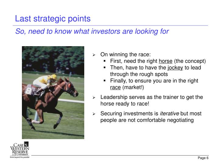 Last strategic points