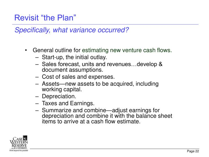 "Revisit ""the Plan"""