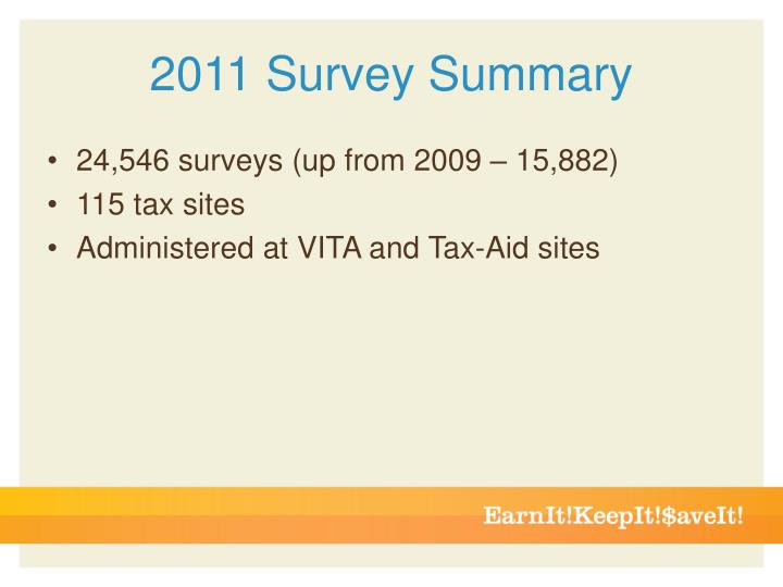 2011 Survey Summary
