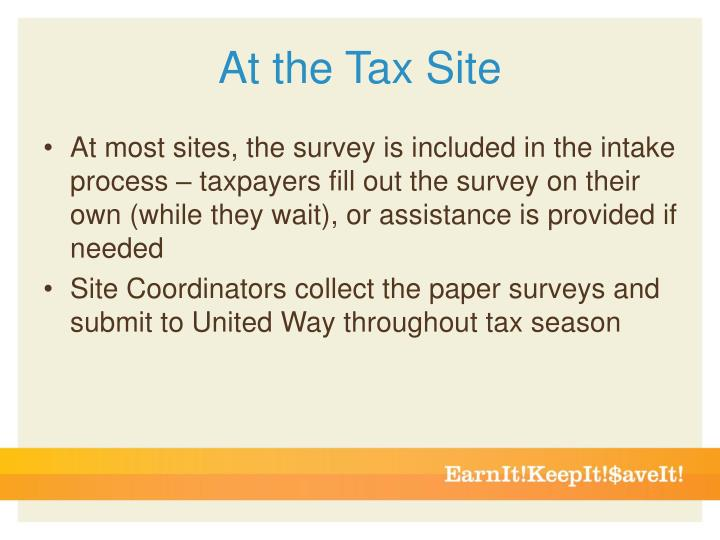 At the Tax Site