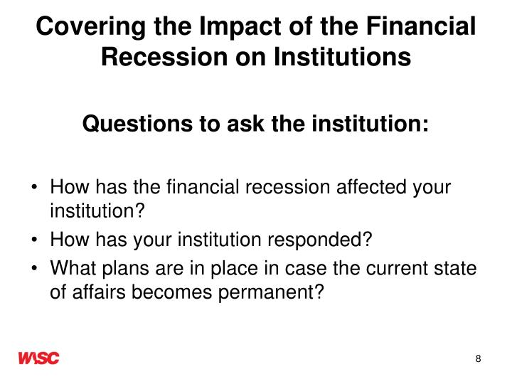 Effects of the Great Recession