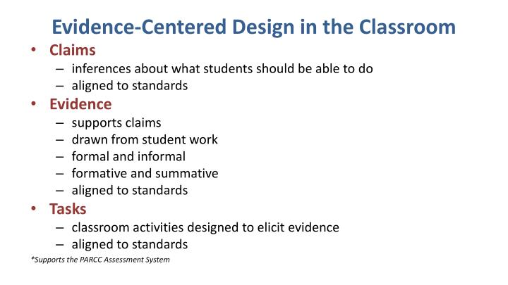 Evidence-Centered Design in the Classroom